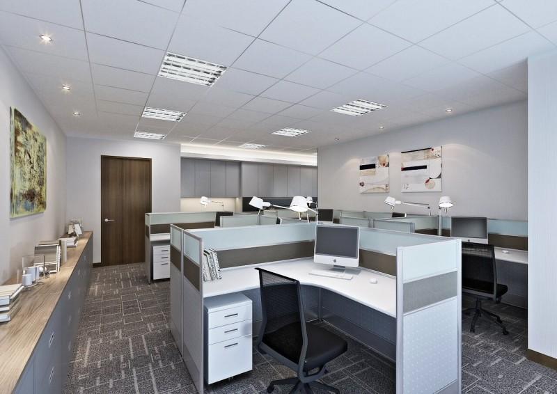 簡約的辦公區域設計,美式的開放空間特別將隔板降低,能更快的交流第一時間協助賓客的需求