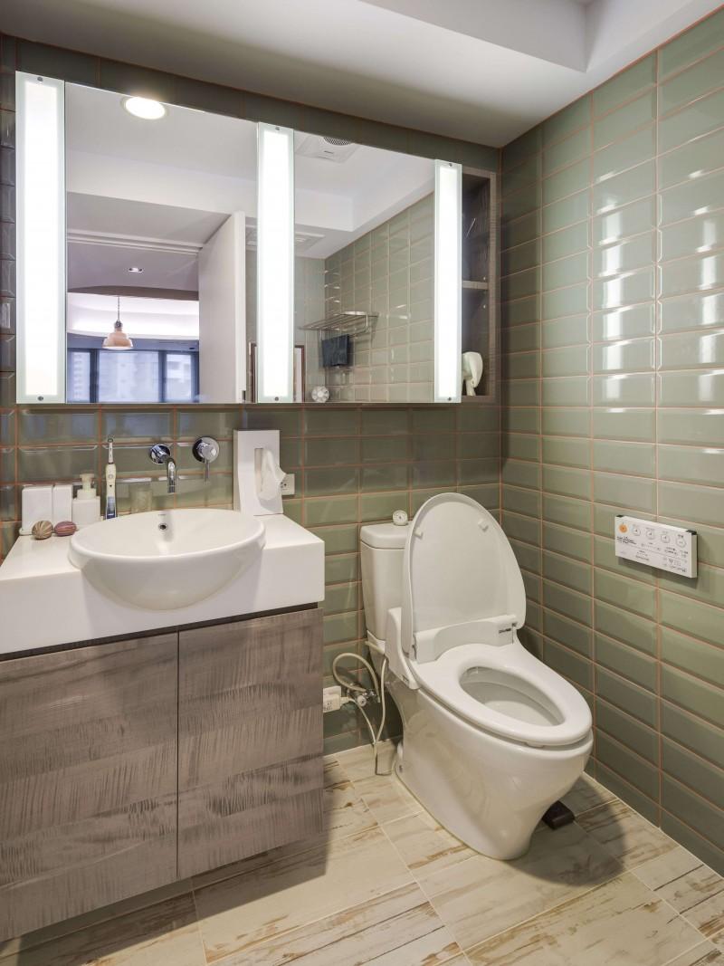 不同於公共空間的多元發想, 臥室及衛浴空間則利用簡單明亮的設計, 讓住戶能夠好好放鬆。